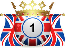 Union jack bingo ball with crown and flags Royalty Free Stock Photography