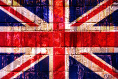 Union Jack. Brick wall texture Royalty Free Stock Photography