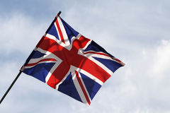 Union Jack (britische Staatsflagge) Stockbild