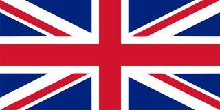 Union Jack - Britse vlag vectorillustratie Royalty-vrije Stock Foto