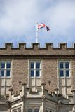 Union Jack on Brownsea Castle Royalty Free Stock Image