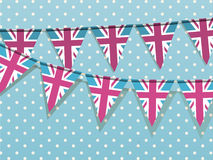Union jack bunting Royalty Free Stock Photos