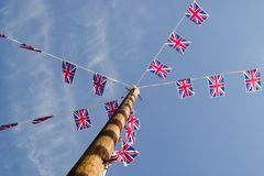 Union Jack Bunting Stock Photo
