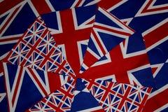 Union Jack Bunting. Abstract Union Jack Flag Bunting Scene Royalty Free Stock Photography