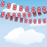 Union Jack bunting flags stock illustration