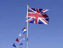 Union Jack with bunting Royalty Free Stock Photo