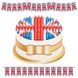 Union jack cake Stock Image