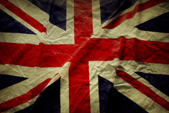 Union Jack. Closeup of Union Jack flag, with texture royalty free stock images