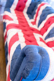 Union Jack Colored Sofa Royalty Free Stock Images