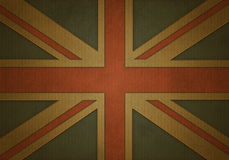 Union jack on corrugated cardboard Stock Photo