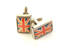 Union Jack Cuff Links royalty free stock photo