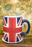 Union jack cup of tea Royalty Free Stock Photography