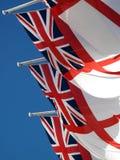 Union Jack d'insigne blanc Photographie stock libre de droits