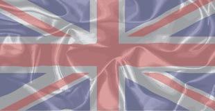Union Jack de seda ilustração royalty free