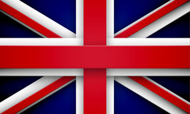 Union Jack with effects. Flag of Great Britain made of red and white overlapping ribbons. EPS10 vector Union Jack Stock Photography