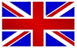 Union Jack en estilo metálico de los colores Imagen de archivo libre de regalías
