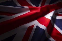 Union Jack en sombras imagen de archivo libre de regalías