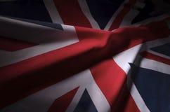 Union Jack en sombras imagenes de archivo