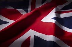Union Jack en sombras imágenes de archivo libres de regalías