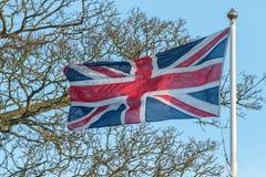Union jack uk flag waving Stock Photos