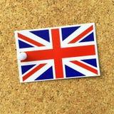 Union Jack etykietka fotografia royalty free