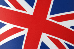 Union Jack Flag. Close-up of Union Jack flag. The falg of the United Kingdom royalty free stock photography