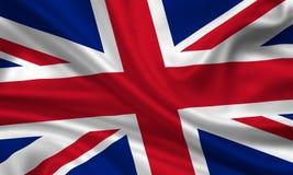 Union Jack flag. Background of rippled Union Jack flag Stock Images