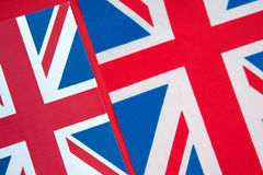 Union Jack Flag. Two Union Jack Flags of UK as a Background Stock Images