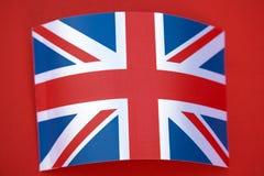 Union Jack Flag. On Red Background Royalty Free Stock Image