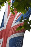 Union Jack Flag. On The Mall London royalty free stock images