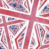 Union Jack Flag Collage Abstract royalty free illustration