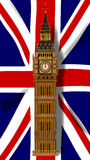 Union Jack Flag with Big Ben Stock Images