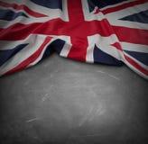 UK flag on blackboard Royalty Free Stock Images