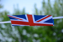 Union jack flag. Blowing in the wind Stock Photo