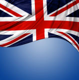 Union Jack flag. On blue background stock photography