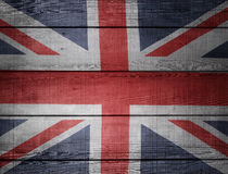 Union Jack flag. Closeup of Union Jack flag on boards Royalty Free Stock Photography