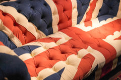 Union Jack Flag English Sofa Royalty Free Stock Photos