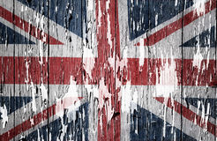 Union Jack flag. Flaking paint boards Union Jack flag royalty free stock images