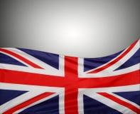 Union Jack flag. On grey background Stock Photography
