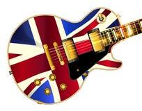 Union Jack Flag Guitar Royalty Free Stock Photography