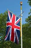 Union Jack flag, The Mall,  London, England, UK. Union Jack flag, decorating The Mall,  London, England, UK Royalty Free Stock Photo