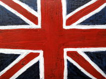 Union Jack flag on metal background. Union Jack flag of the United Kingdom painted on an old metal background Stock Photos