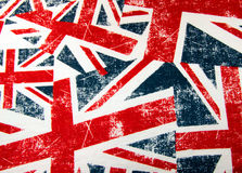 Union jack flag montage. To be used as a backgrounf Royalty Free Stock Photography