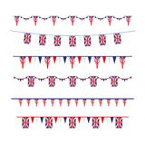 Union Jack flag banners set Royalty Free Stock Image