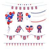 Union Jack flag design elements Royalty Free Stock Photo
