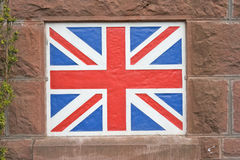 Union Jack flag painted on wall. Royalty Free Stock Photo