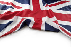 Union Jack flag. On plain background stock photos