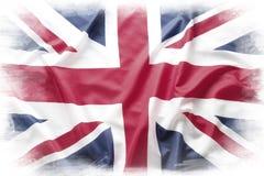 Union Jack. Flag on plain background Stock Photography