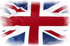 Union Jack flag. On plain background Stock Photography