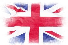 Union Jack flag. On plain background Royalty Free Stock Photo